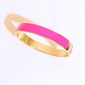 T&J Designs colorful bright pop pink & gold bangle